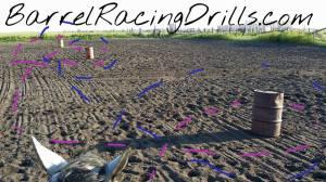 Do several barrel racing drills with this one setup.  http://BarrelRacingDrills.com